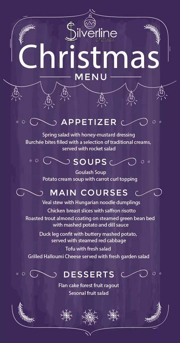 christmas dinner menu budapest